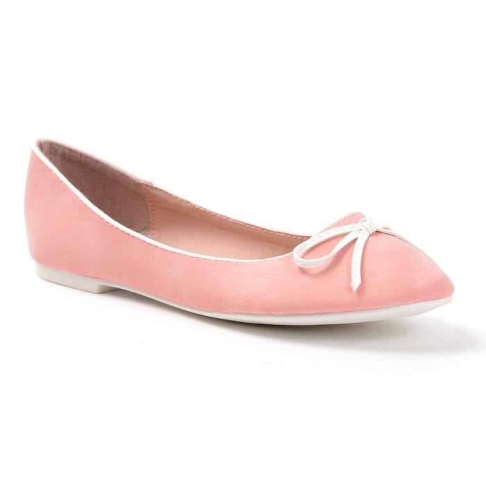 BALLERINES FEMME PU ROSE CLAIRE - COULEUR:ROSE POINTURE:36 gE1XE