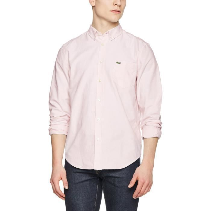 c46dc5aff91b Lacoste Chemise Casual Homme 1IY6PR Taille-L Rose Rose - Achat ...