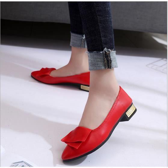 BBZH Chaussures Chaussure Printemps Femmes XZ069Rouge35 Été Comfortable Talon Faible YxB0pnfBwq