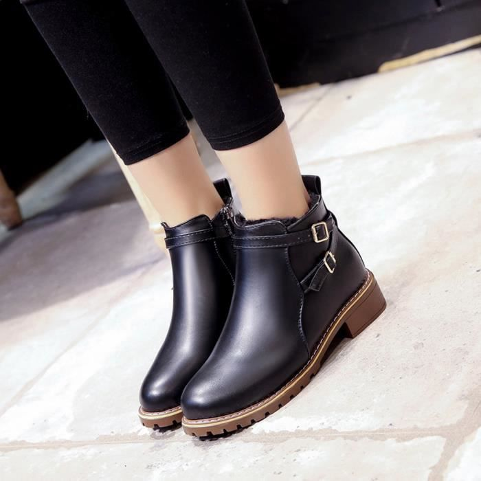 femmes Amyamyi Automne Motorcycle Chaussures Hiver Casual Femme Boots Wong5592 Vintage d4r4xHn