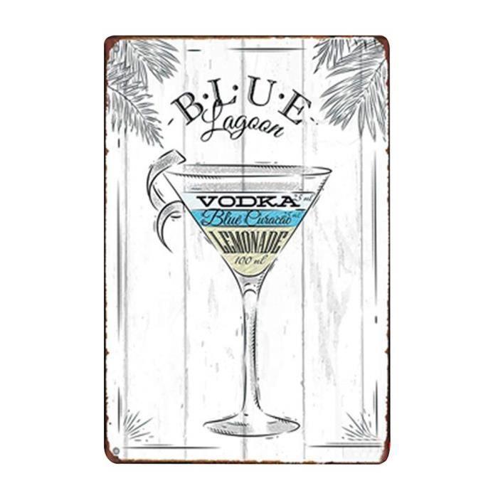 Lumanuby pub publicit/é m/étal 20 x 30 cm Plaque Murale Vintage en m/étal pour d/écoration dint/érieur caf/é Bar