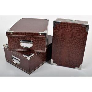 boite rangement carton poignees metal achat vente pas cher. Black Bedroom Furniture Sets. Home Design Ideas