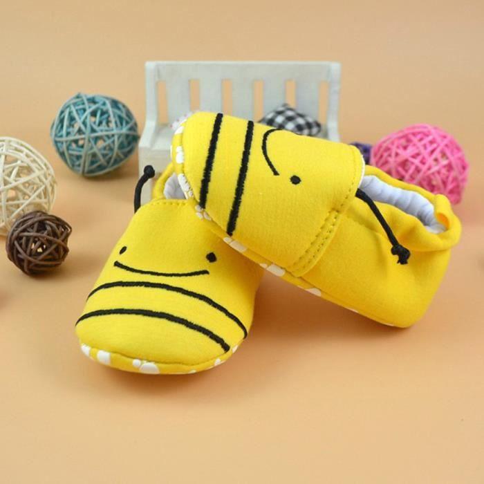 BOTTE Nouveau-né belle Toddler premier Walkers bébé chaussures appartements doux pantoufles chaussures@B, 14