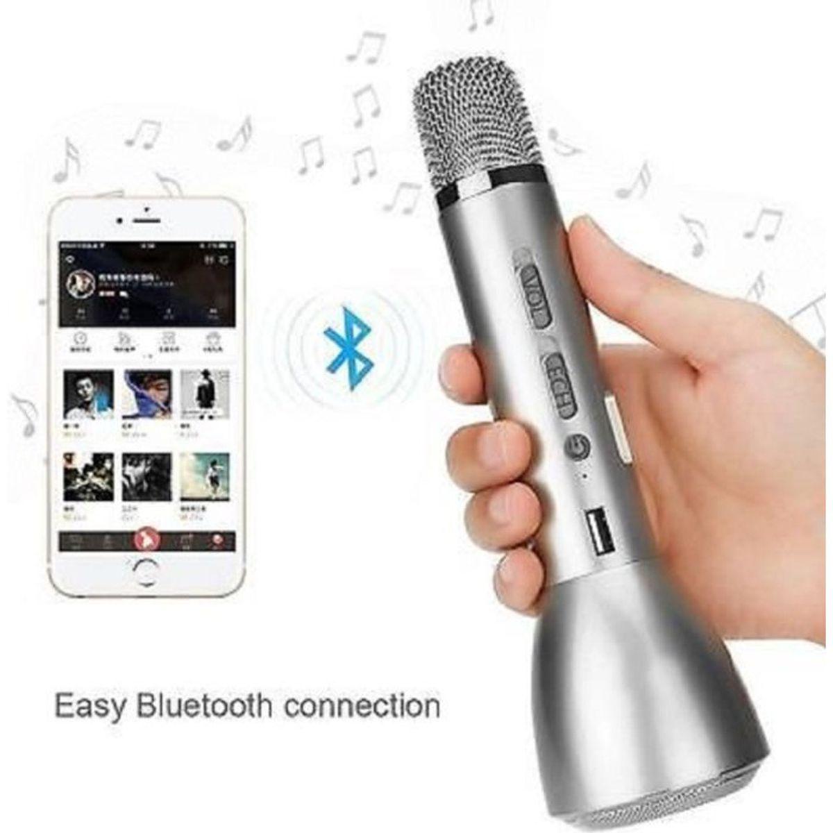 micro sans fil avec bluetooth et haut parleur argent microphone accessoire avis et prix pas. Black Bedroom Furniture Sets. Home Design Ideas