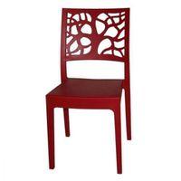FAUTEUIL JARDIN  Chaise de Jardin Teti Rouge