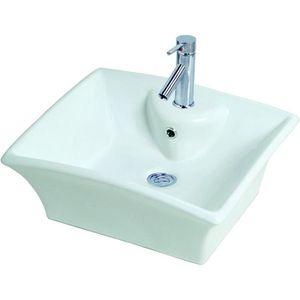 LAVABO - VASQUE Vasque en céramique Vésuve Blanc