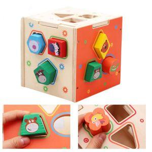 JEU D'APPRENTISSAGE Bois Puzzles enfants Boîte éducatifs Enfants Jeu d