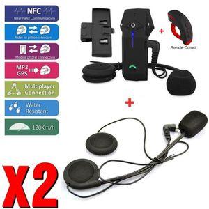INTERCOM MOTO Bluetooth Intercom casque pour moto Interphone COL