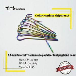 TENTE DE CAMPING pcs 3.5mm Coloré alliage de Titane Camping En Plei