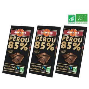 CONFISERIE DE CHOCOLAT ALTER ECO Chocolat Noir Pérou 85% Bio 100g X3