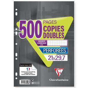 BLOC NOTE CLAIREFONTAINE Copies doubles Blanches perforées 2