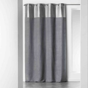 RIDEAU Rideau a oeillets 140 x 260 cm suede argent atomic