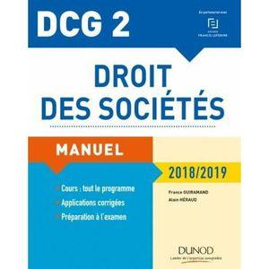 LIVRE COMPTABILITÉ Livre - DCG 2 - droit des sociétés (édition 2018/2