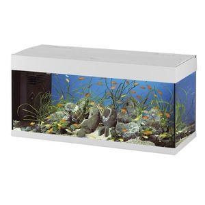 AQUARIUM DUBAI 120 Aquarium en verre blanc 121x41x56 cm