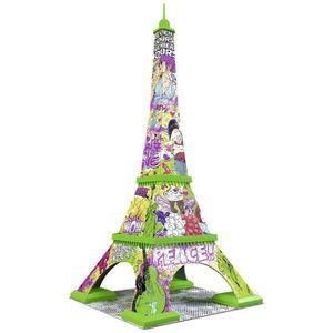 PUZZLE Puzzle 216 pièces Puzzle 3D - Tour Eiffel Pop Art