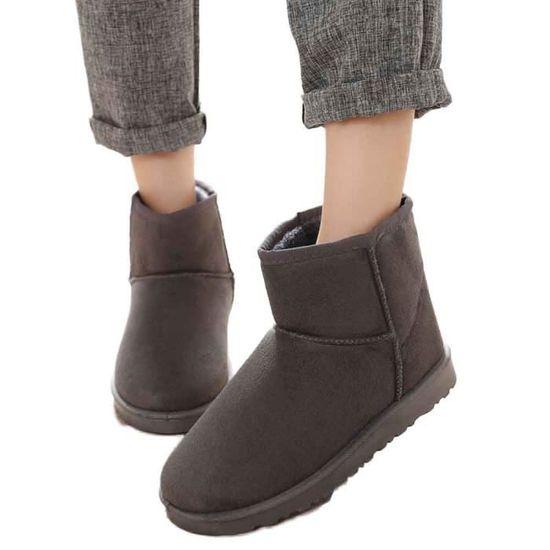 Femmes dames maison neige femelle chaussures chaudes@Gris Gris Gris - Achat / Vente botte