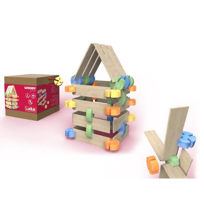 LUDUS- Woody Junior - Jeux assemblage en bois - Mixte - A partir de 3 ans