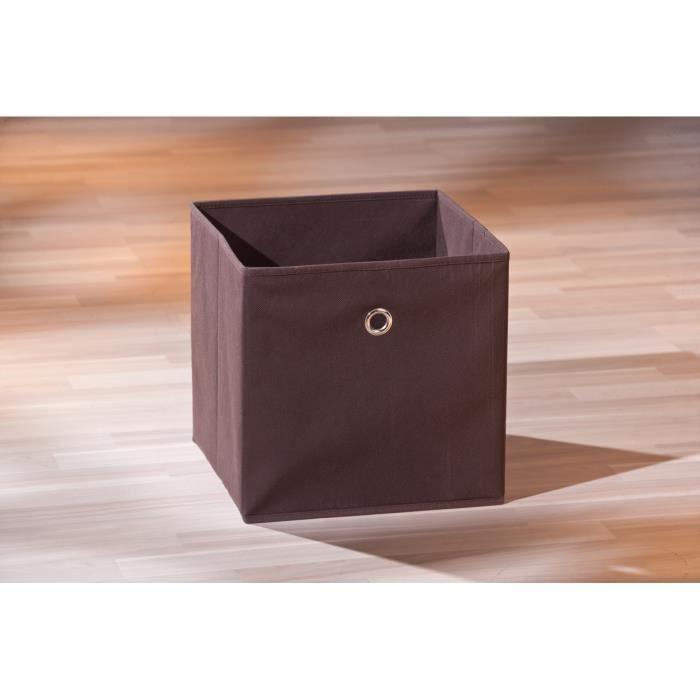 boite de rangement carr design coloris marron achat vente boite de rangement cdiscount. Black Bedroom Furniture Sets. Home Design Ideas