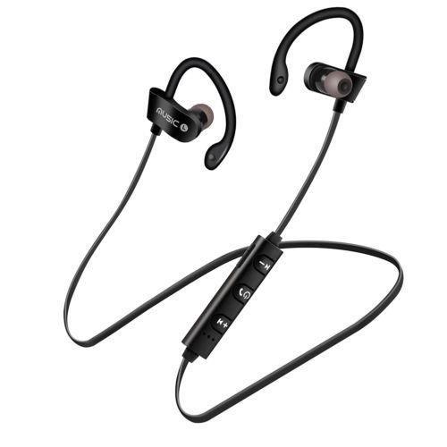 Black Ecouteurs Bluetooth Sans Fil Sport Gym Pour Iphone Samsung