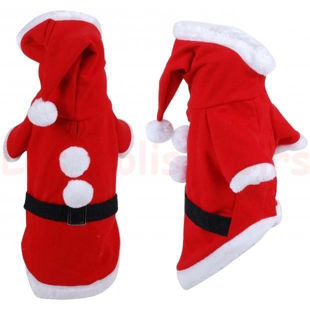 vetement pour noel Costume Manteau Chien PERE NOEL 25cm Scratch   Achat / Vente  vetement pour noel