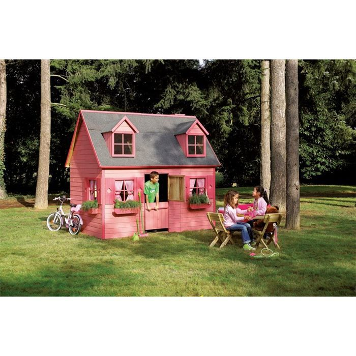 MAISONNETTE EXTÉRIEURE Maisonette en bois pour enfant Rosalie