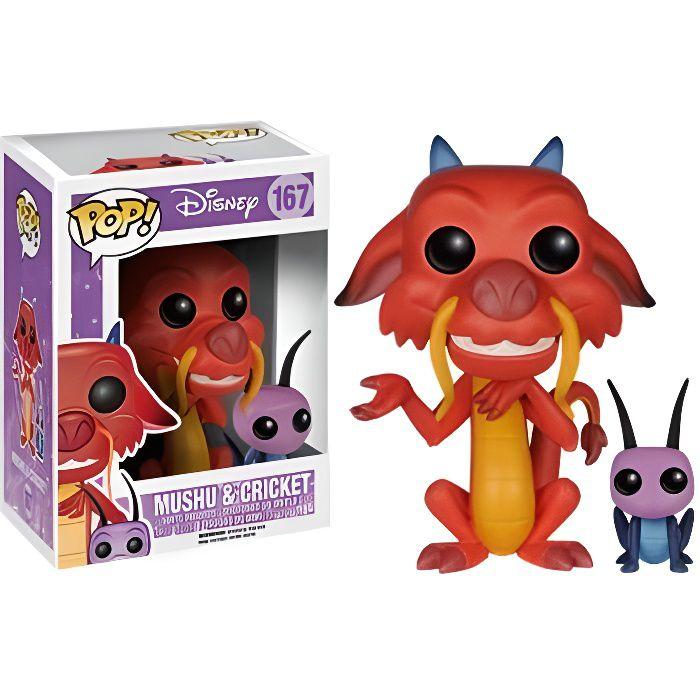 FIGURINE - PERSONNAGE Figurine Disney - Mulan Mushu et Cricket Pop 10cm