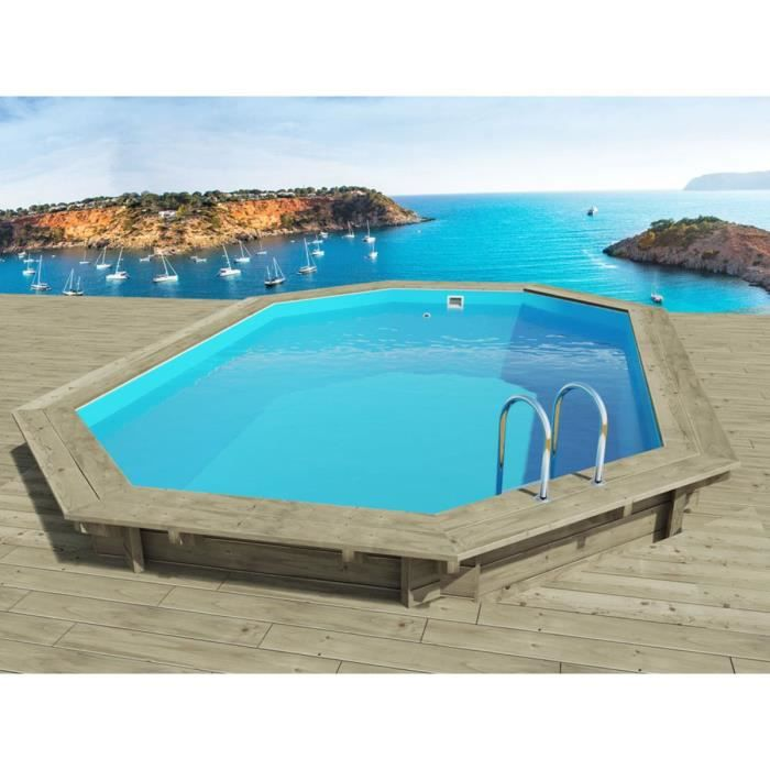 piscine bois 4m x 3m