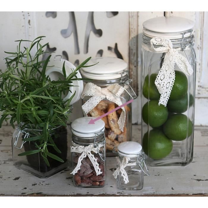 bocaux en verre decoration achat vente pas cher. Black Bedroom Furniture Sets. Home Design Ideas