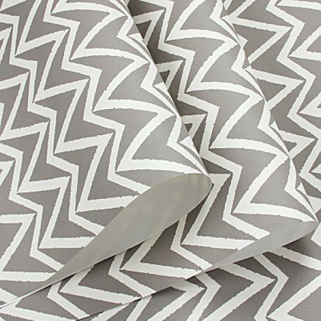 Papier Peint A Rayures Bleu Geometrique Gris 5 3m2