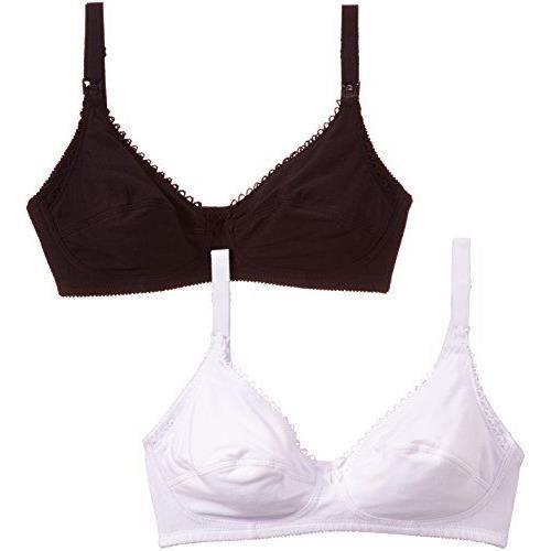 Naturana Alexandra - Soutien-gorge spécial maternité - Sans armature - Uni  - Lot de 2 - Femme - Multicolore Blanc Noir - 95E Tail. deec8fe67aa