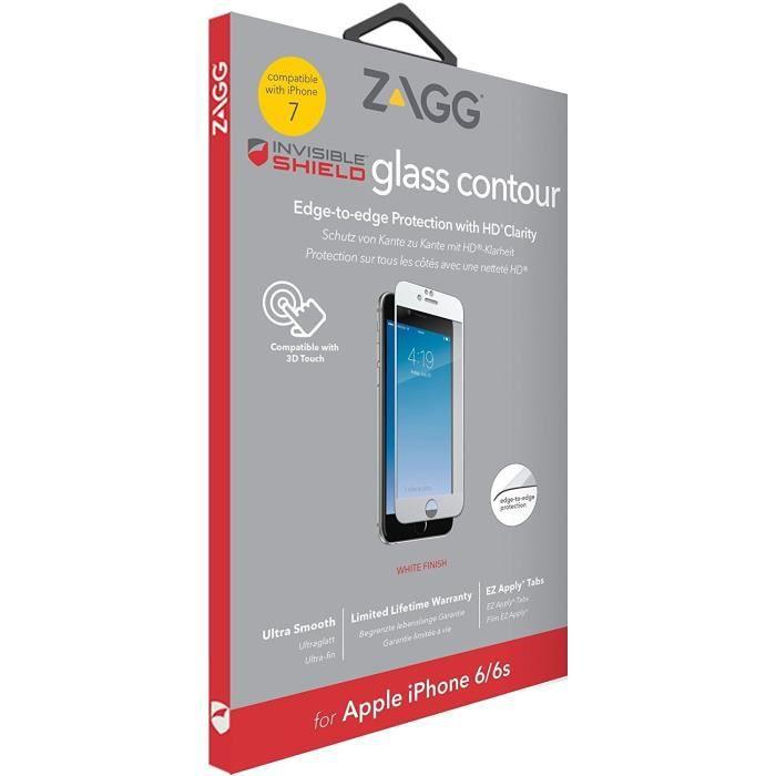 FILM PROTECT. TÉLÉPHONE ZAGG Protection d'écran invisibleSHIELD Glass Cont