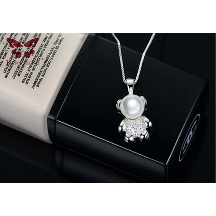 Ma lumière brille seulement pour vous / Collier de perle en forme d'oursonpour vouspour votre chérie