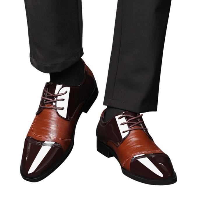 Doublé Classic Perforé 4826 Lace Hommes Up Chaussures Cuir Pour Oxfords 6495@modern UASXxnn