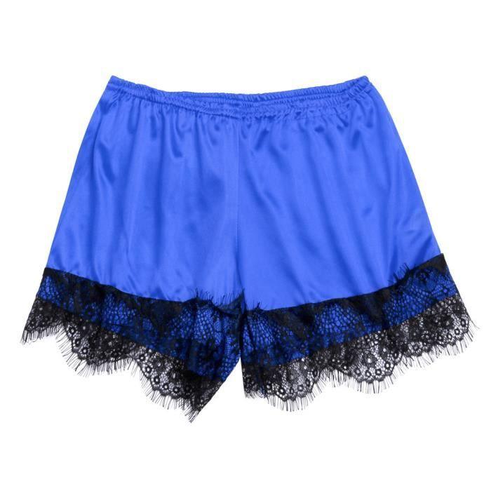 Détails Set Pyjama Femmes Dentelle V Bleu Plus Size Frangée cou Bodydoll Lingerie qF8O1