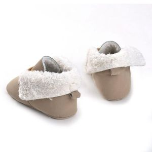 BOTTE Bébé Bébé Garçon Fille Cravate lacets Bottes Semelles Souple Bottes Prewalker Chaud Chaussures@Khaki 7FZlFK