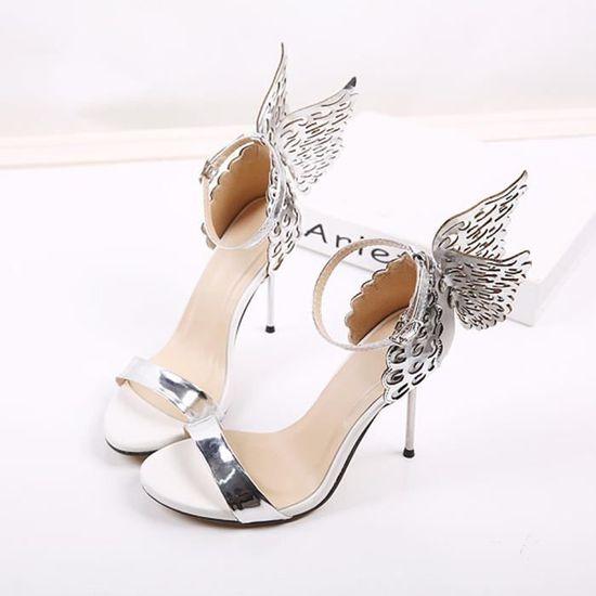 Mode Paillettes Femmes Valentine Chaussures bronzants Paillettes Mode Big bowknot Escarpin Sandales  argent_C*1059  Argent - Achat / Vente escarpin c71766