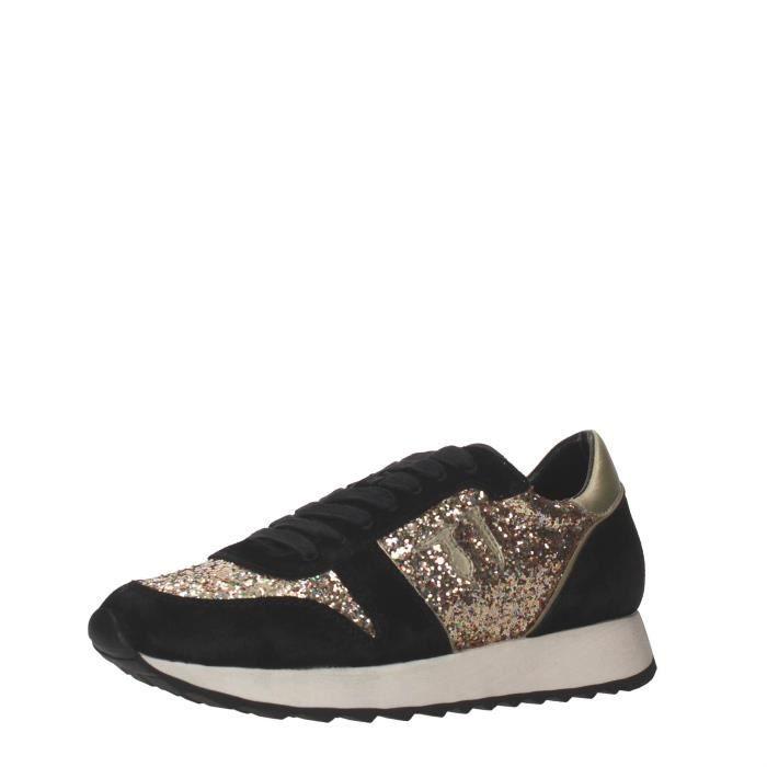 Trussardi Jeans Sneakers Femme Grigio, 40 Nero/...