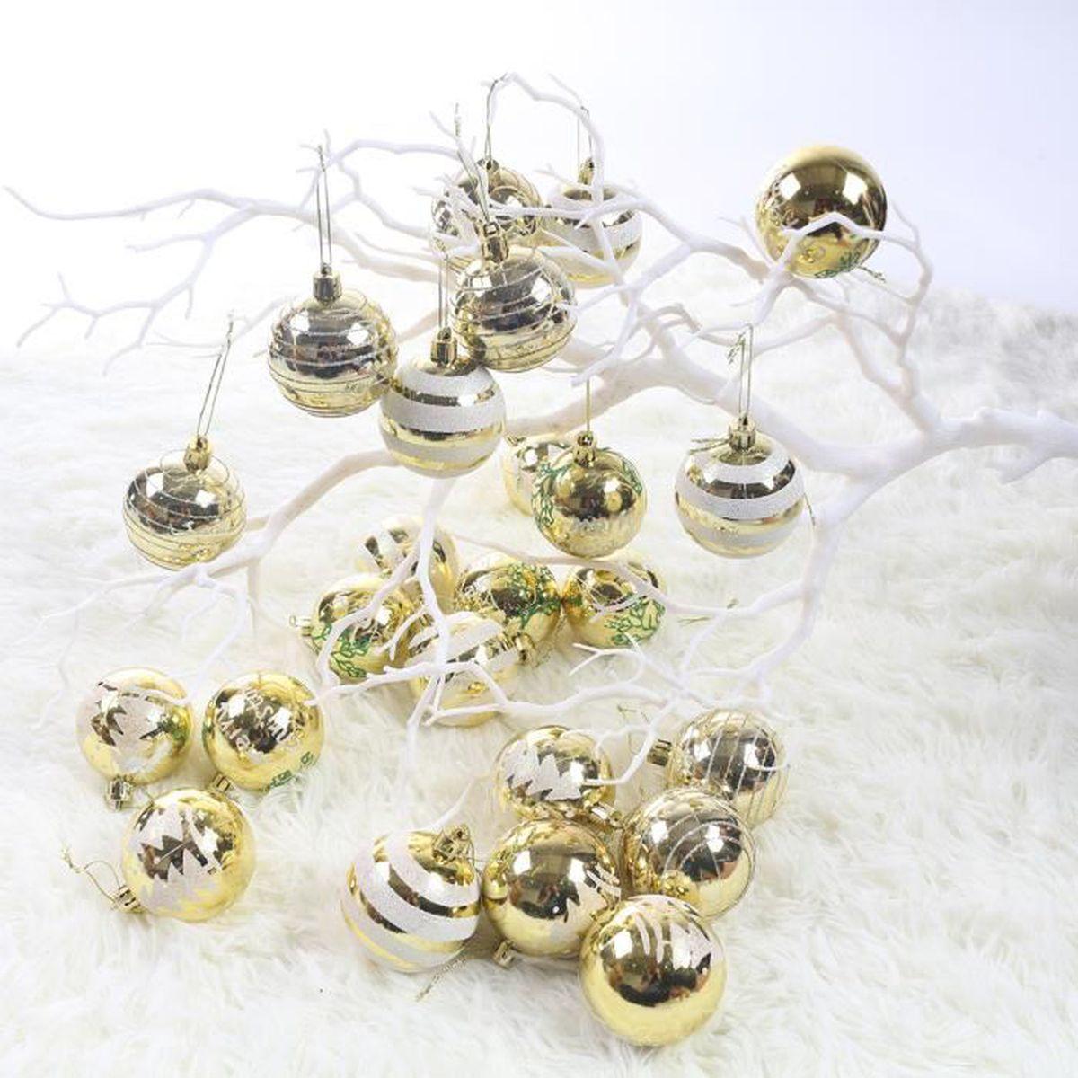 Idee Deco Boule Plastique Transparente Noel lot 24 boules pour décoration noel diverses occasions 4