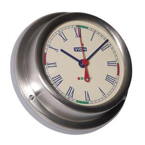 VION Horloge Marine avec zones de silence radio en acier inoxydable ?129mm