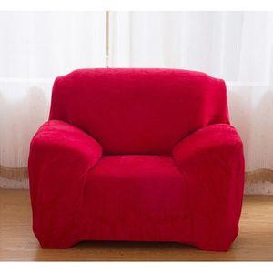 Housse fauteuil rouge achat vente pas cher for Housse fauteuil salon