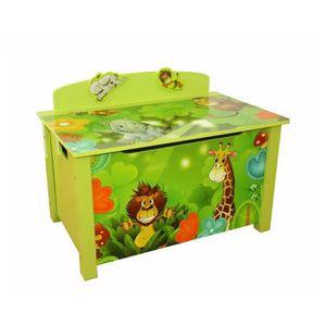 COFFRE À JOUETS Coffre à jouets en bois meuble chambre enfant moti