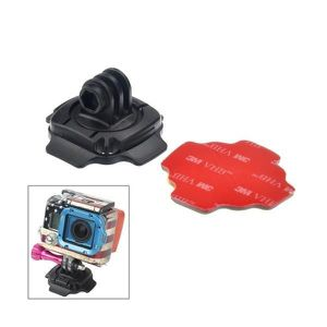 FIXATION - ROTULE Support casque ajustable a 60 degres pour GoPro He 43eb3cb09faa