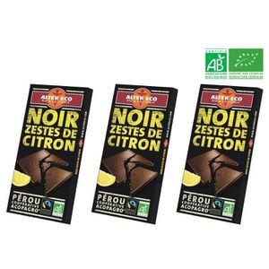 CONFISERIE DE CHOCOLAT ALTER ECO Chocolat Noir Zestes de Citron Bio 100g