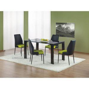 table a manger en verre trempe 140 cm achat vente pas cher. Black Bedroom Furniture Sets. Home Design Ideas