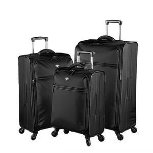 SET DE VALISES Lot de 3 valises souples Nice 55, 69 et 79 cm Noir