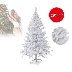 sapin de noel blanc lumineux achat vente pas cher. Black Bedroom Furniture Sets. Home Design Ideas