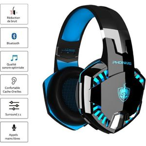CASQUE AVEC MICROPHONE Micro Casque gamer Filaire - compatible avec PS4-n