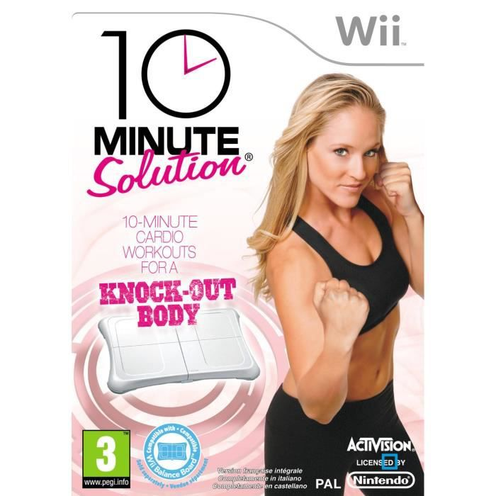 JEUX WII 10 MINUTES FITNESS SOLUTION / Jeu console Wii