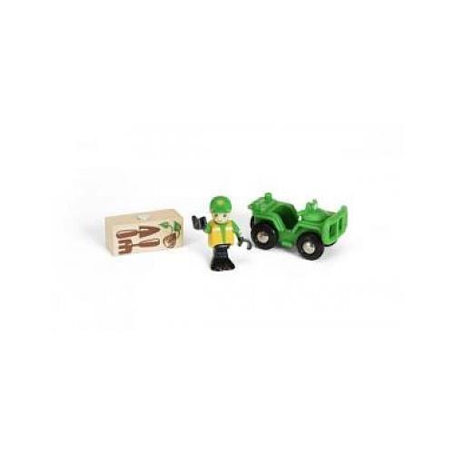 BRIO 4X4 Forestier et personnage - Jouet en bois