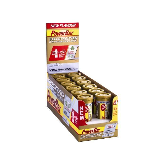 POWERBAR Boisson sport 5 Electrolytes - Zéro calorie - Citron tonique - 12 x 10 comprimés